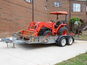 2004 Kubota L2800 4x4 Tractor Loader Blade Trailer